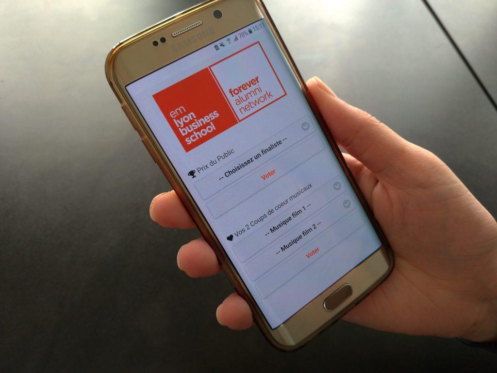 webapp sur smartphone